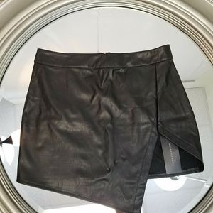 Choies black buttery soft leather mini skirt large